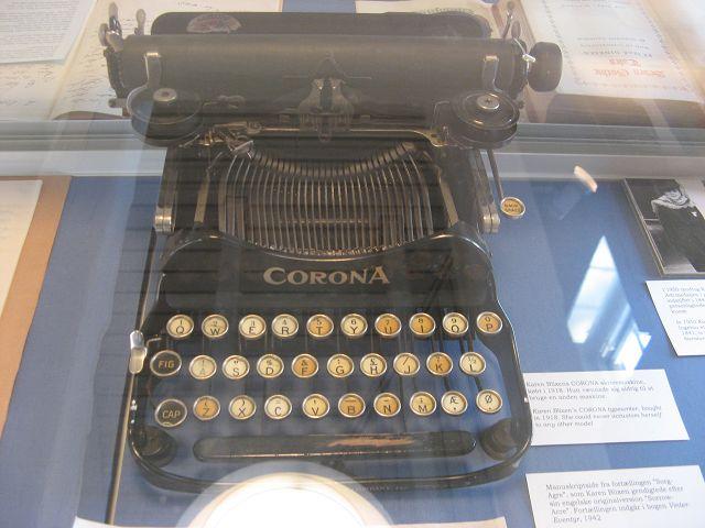 Schreibmaschine Karen Blixen Museum