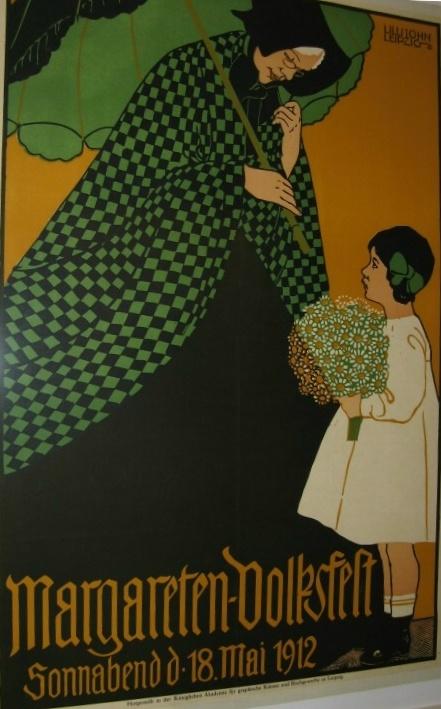 Plakat Margareten Volksfest 1912 Foto Mail Brandt